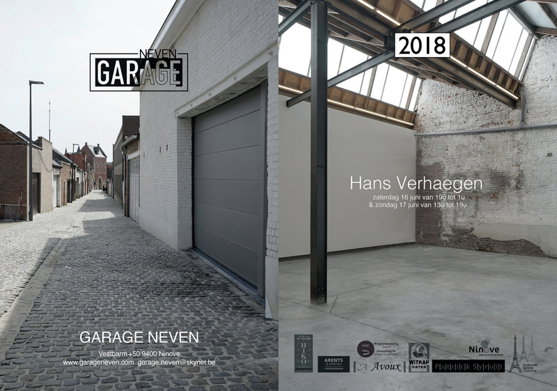 Poster for 2018 exhibition at Garage Neven, Ninove (B)